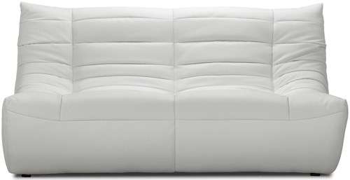Zuo Occasional Collection Modern Low Seat Leatherette Loveseat