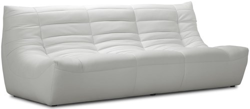 Zuo Occasional Collection Modern Low Seat Leatherette Sofa