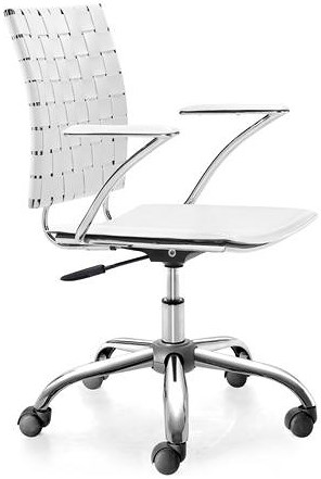 Zuo Office Collection Criss Cross Leatherette Office Chair