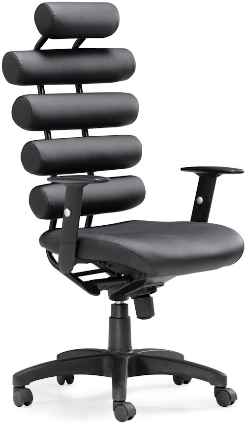 Zuo Office Collection Unico Padded Roll Office Chair