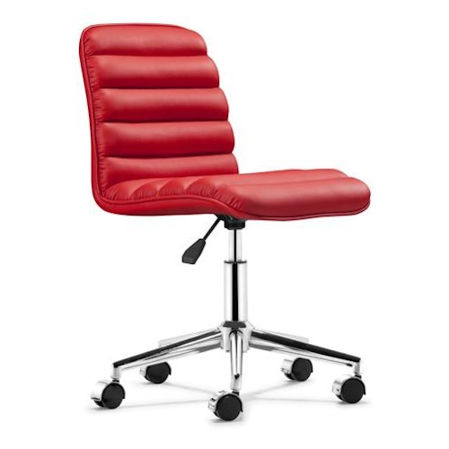Zuo Office Collection Admire Paneled Leatherette Office Chair