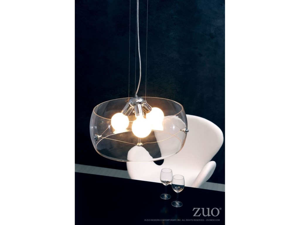 Zuo Pure LightingAsteroids Ceiling Lamp Clear