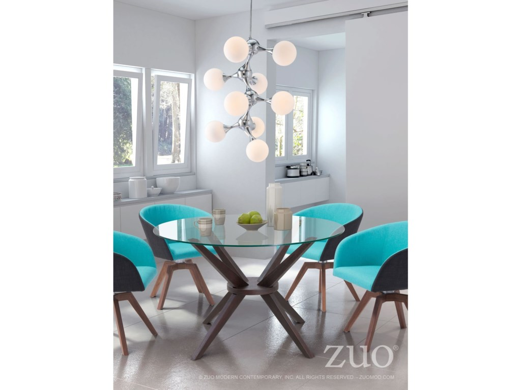 Zuo Pure Lighting Pomegranate Ceiling Lamp White & Chrome | Royal ...