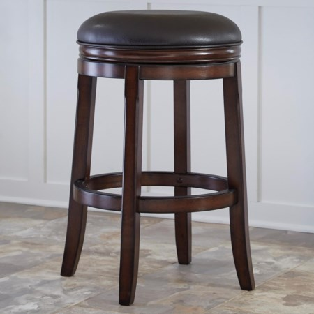 Tall Upholstered Swivel Stool