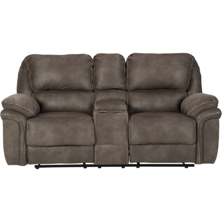 Double Reclining Power Loveseat w/ Console