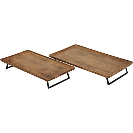 Kaleena Brown/Black Tray Set