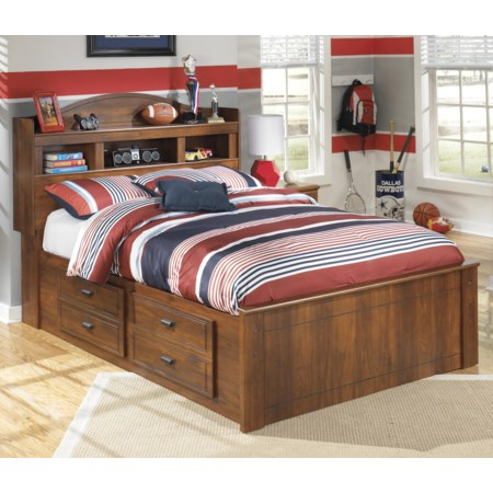 Full Bookcase Bed with Underbed Storage