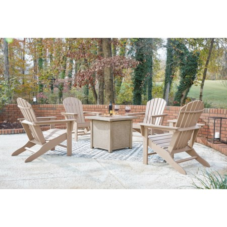 5-Piece Square Fire Pit Set