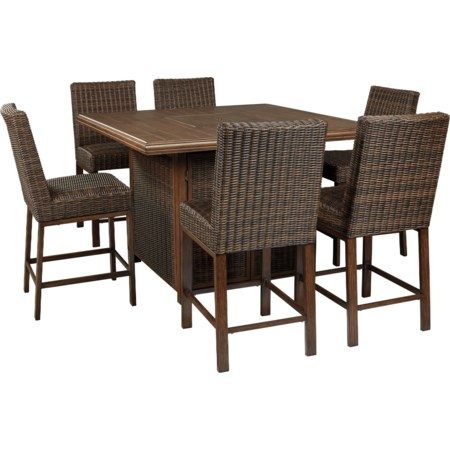 7 Piece Outdoor Firepit Table Set