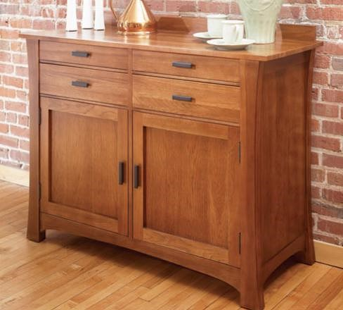Aamerica cattail bungalow traditional 4 drawer 2 door for Sideboard fa r wohnzimmer