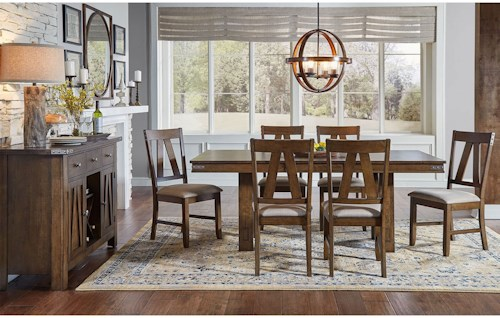 Aamerica eastwood dining casual dining room group for Casual formal dining room