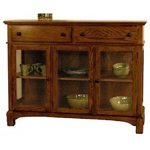Aamerica laurelhurst 3 door wood top server wilson 39 s for Laurelhurst dining set