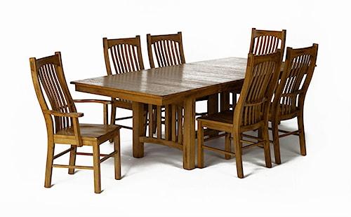 Aamerica laurelhurst rectangular trestle dining table and for Laurelhurst dining set