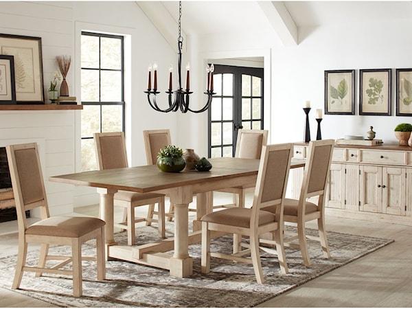 casual dining room group fashion furniture. Black Bedroom Furniture Sets. Home Design Ideas