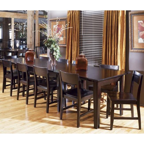 Aamerica montreal rectangle dinner table w leaf extension for Dining room tables montreal