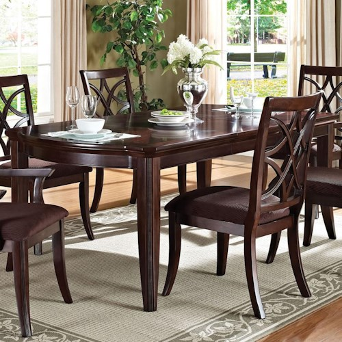 Formal Dining Table: Acme Furniture Keenan Formal Transitional Dining Table