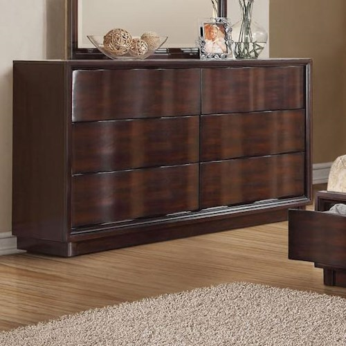 Acme Furniture Travell Contemporary Six Drawer Dresser