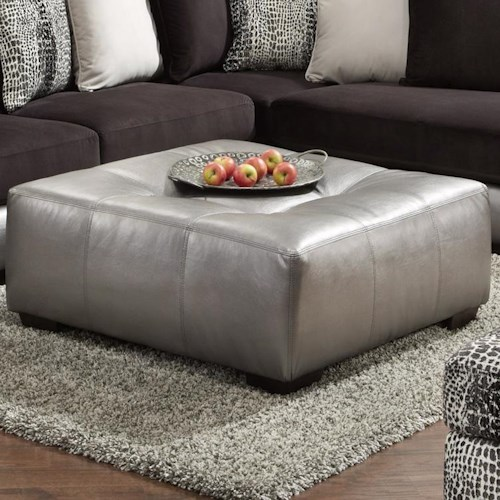 Affordable furniture 6350 party upholstered ottoman for Affordable furniture and appliances