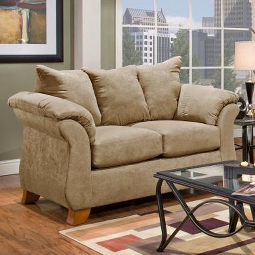 Small Affordable Furniture: Affordable Furniture 6700 Transitional Flared Pillow Arm