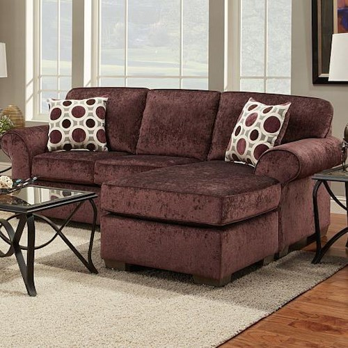 Affordable furniture elizabeth stationary sofa w chaise for Affordable furniture and appliances