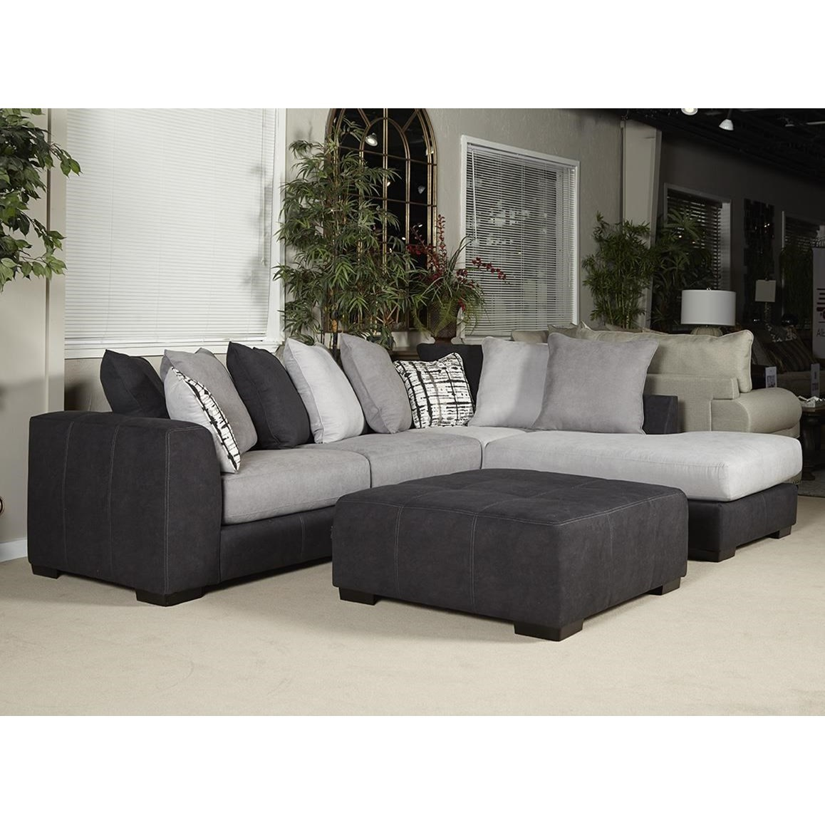 Albany 448 Transitional Sectional Sofa With Loose Back