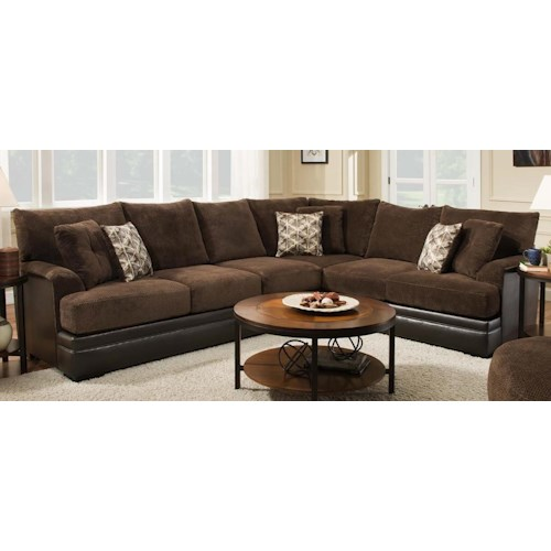 Albany 8640 2 piece two tone sectional furniture fair for Sectional sofa furniture fair