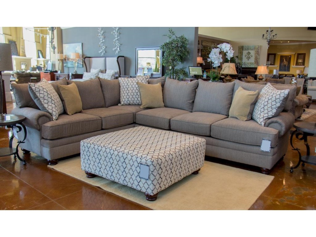 Albany sectional sofa albany 8642 transitional sectional for Allison recliner sectional sofa by albany industries