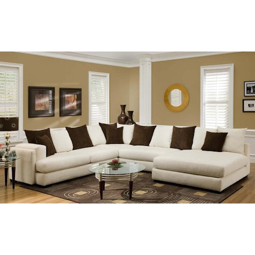 Albany 880 Sectional Sofa With Right Side Chaise A1