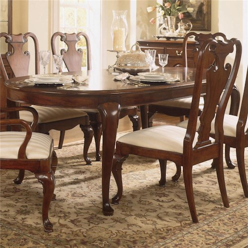 Living trends cherry grove 45th traditional oval dining for Dining table nashville tn