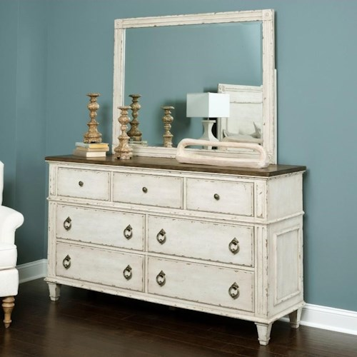 American drew southbury dresser and mirror with wood frame stoney creek furniture dresser American home furniture bed frames