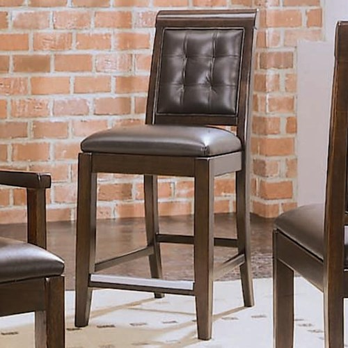 American Drew Tribecca Upholstered Leather Bar Stool With Tufted Back Wayside Furniture Bar
