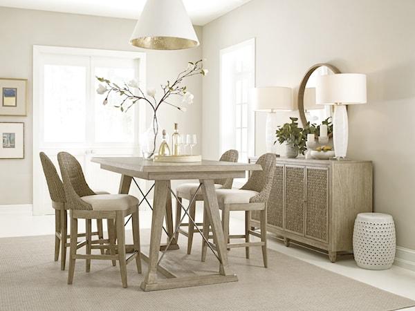 casual dining room group sprintz furniture. Black Bedroom Furniture Sets. Home Design Ideas