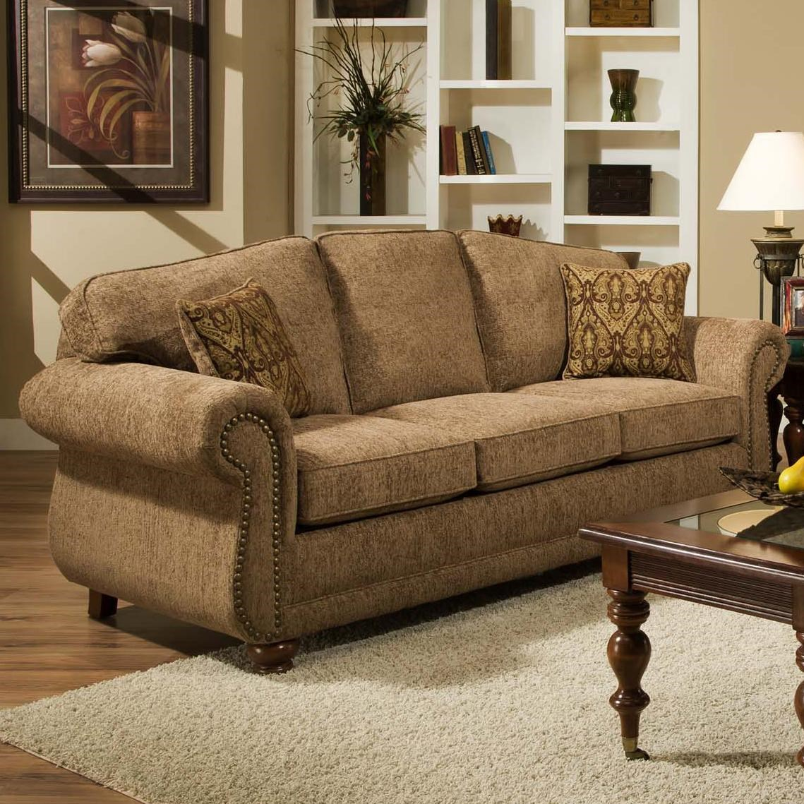Traditional Sofa With With Nail Head Trim 6000 By