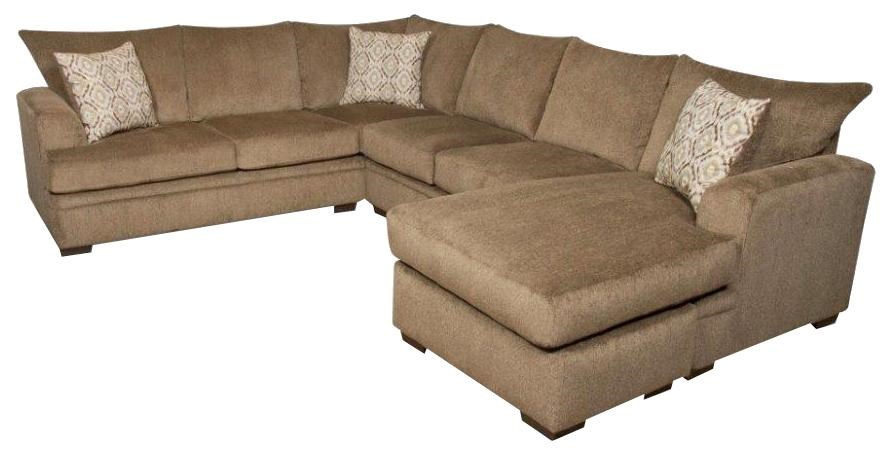 American Furniture 6800 Sectional Sofa with Right Side