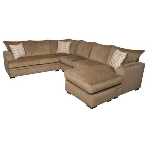 American furniture 6800 sectional sofa with right side for Sectional sofa american furniture warehouse