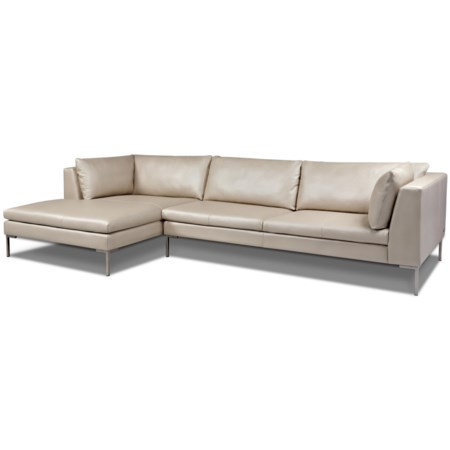Contemporary Sectional with Right Arm Chaise