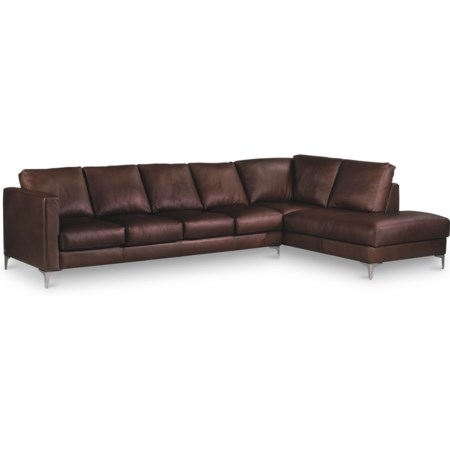 Contemporary 5-Seat Sectional Sofa with Left Arm Sitting Chaise