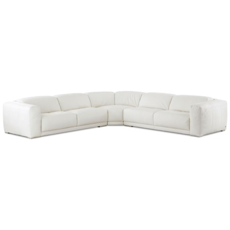 Contemporary 4-Seat Sectional Sofa with Wide Seats and  Adjustable Height Back Cushions
