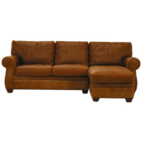 American leather morgan traditional 2 piece sectional sofa for Traditional leather sectional sofa
