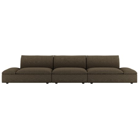 "Casual Contemporary 3-Piece Grand 43"" Deep Sectional"