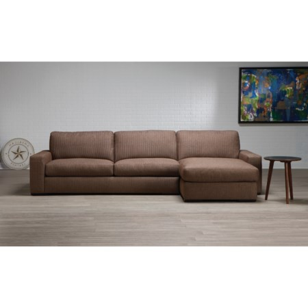 Contemporary 2-Piece Sectional with Left-Sitting Chaise