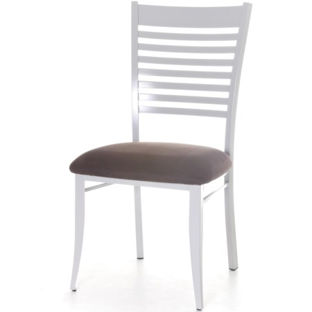 Customizable Edwin Chair with Ladder Back and Upholstered Seat