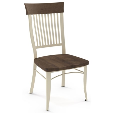 Customizable Annabelle Side Chair with Wood Seat