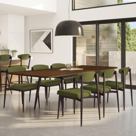 Customizable 7-Piece Richview Table with Self-Storing Leaf