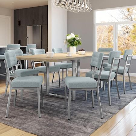 Customizable 9-Piece Burton Table Set with Metal Sled Legs
