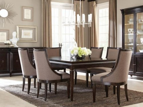 A R T Furniture Inc Classic 7 Piece Leg Dining Table Set