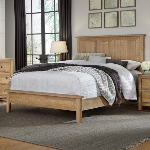 artisan post artisan choices king panel bed with low profile footboard belfort furniture. Black Bedroom Furniture Sets. Home Design Ideas