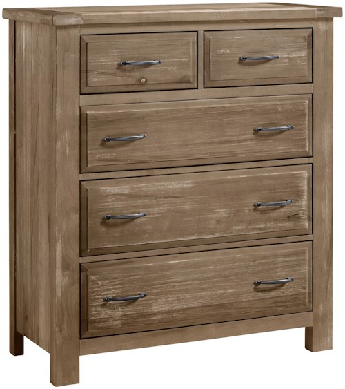 Artisan post maple road 115 115 chest 5 drawers for Furniture 0 percent financing