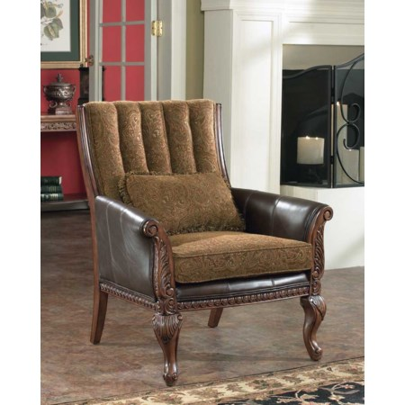 Traditional Showood Accent Chair