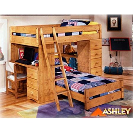 Loft Bed w/Desk and dresser
